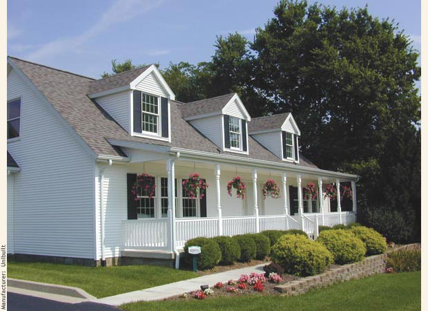 Modular home financing and prefab house financing for Cape cod porch