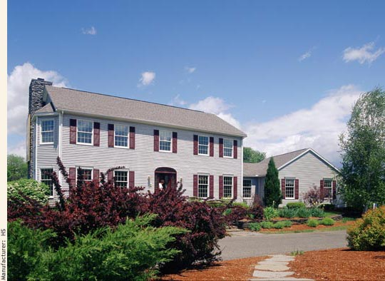 The Home Store's Whately 1 model home with breezeway and garage