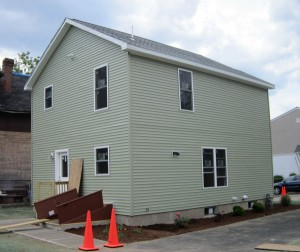 Habitat for Humanity Completed Two-Story Modular Home