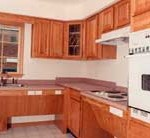 Universal Design Kitchen in The Home Store's Modular T-Ranch Model Home