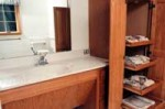 Universal Design accessible bathroom sink in The Home Store's model home