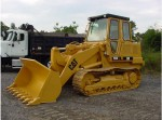 A caterpillar loader ready to help with the modular home delivery and set