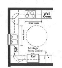Universal Design kitchen plan - Opt 1