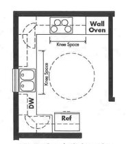 Universal Design kitchen plan - Opt 3