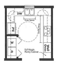 Universal Design kitchen plan - Opt 4