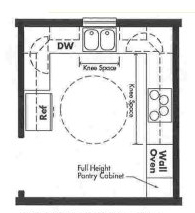 Universal Design kitchen plan - Opt 5