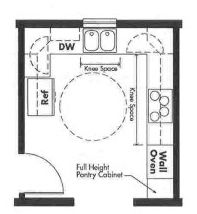 Universal Design kitchen plan - Opt 6