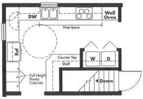 Universal Design kitchen plan - Opt 7