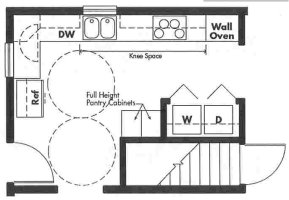 Universal Design kitchen plan - Opt 8