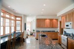 Kitchen in one of our architect designed modular homes designed by architect Robert Coolidge