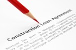 A construction loan agreement cover page