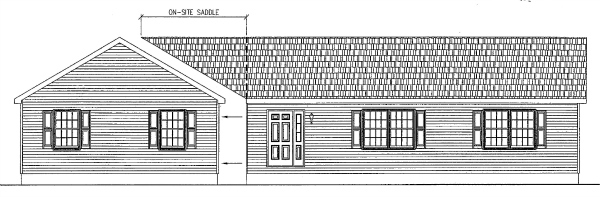 One way to add flair to modular home designs - while enlarging them at the same time - is to turn one or more modules perpendicular to the others and build a saddle to join the roofs.