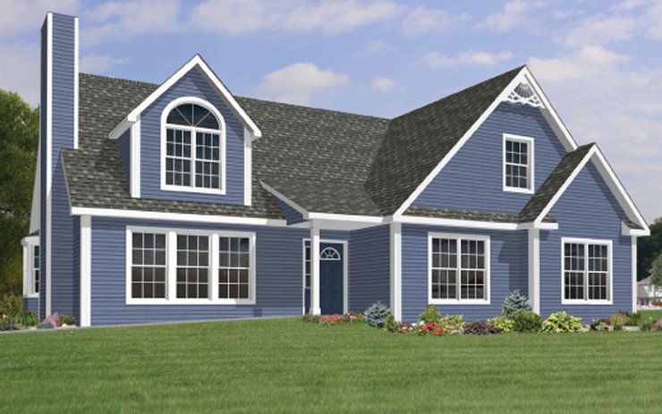 Carefree modular home floor plan for Cape cod style modular homes