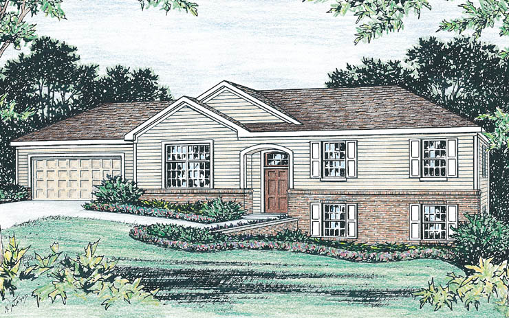 Raised ranch house plans for Raised ranch homes