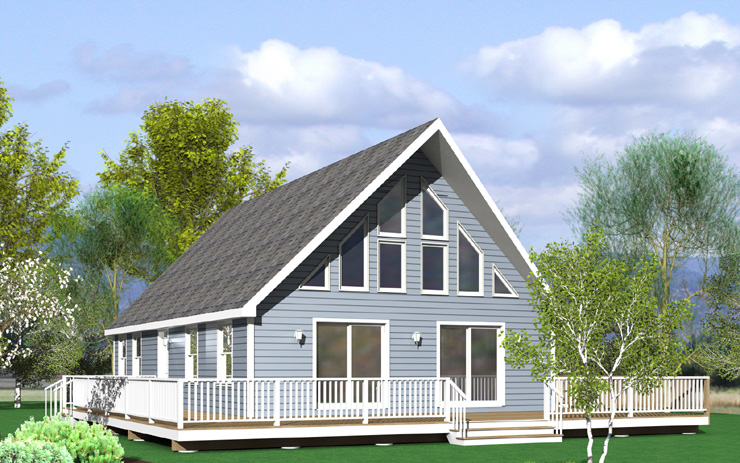 Shadyside modular home floor plan for Chalet homes