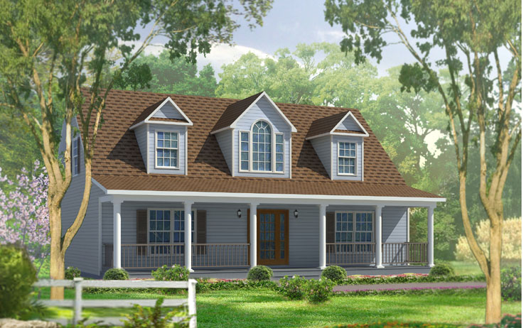 Carlisle cape modular home floor plan for Cape cod model homes