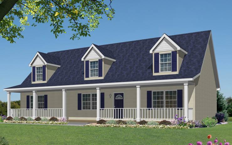 Covington modular home floor plan for Custom cape cod house plans