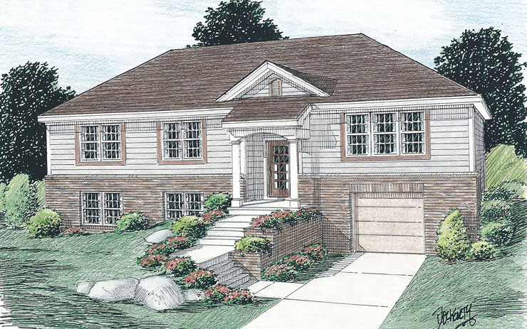 Raised ranch house plans 15 photo gallery house plans for Raised ranch homes