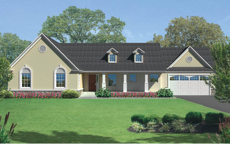 chesterbrook 1 story modular home floor plan