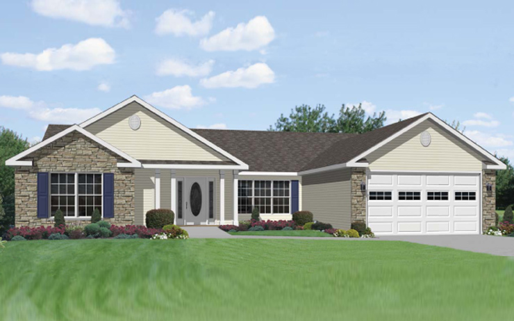 Stunning one story ranch house 25 photos house plans 59216 Single story ranch homes