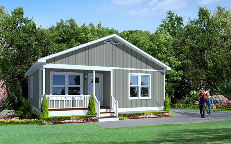 Craftsman bungalow modular home floor plan for Bungalow style modular homes