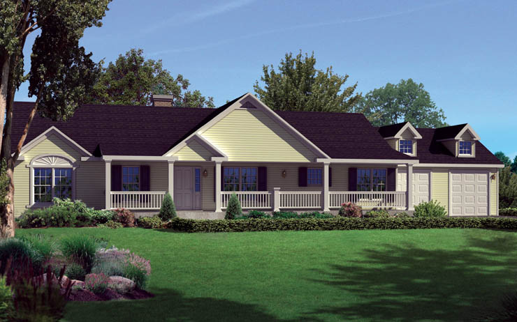Deerwood modular home floor plan for One story modular homes