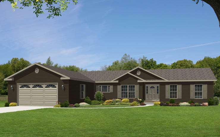 Glamorgan modular home floor plan for Single story ranch homes