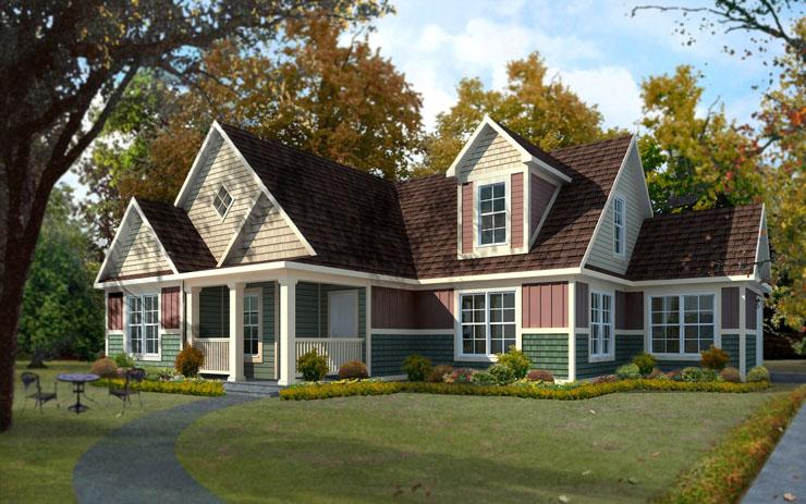 Sullivan cape modular home floor plan for Cape modular home plans