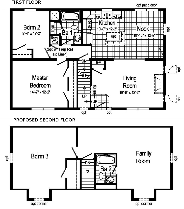 Pleasantdale modular home floor plan for Cape cod floor plans