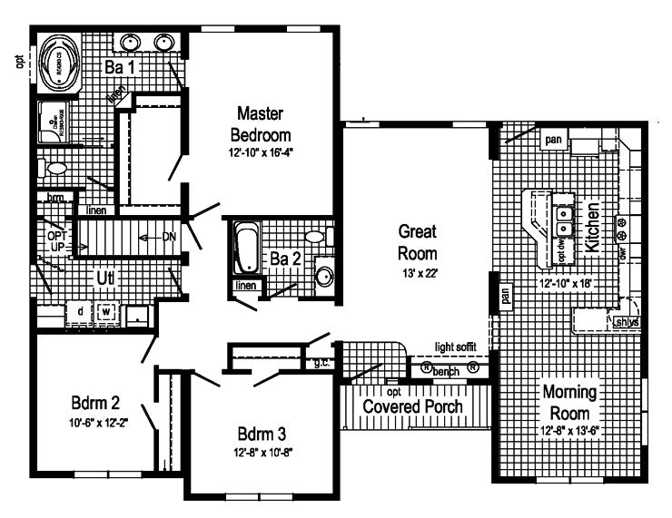 Wiltshire cape modular home floor plan for Cape cod style floor plans
