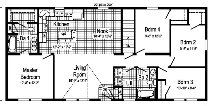 Devonshire modular home floor plan for Devonshire floor plan