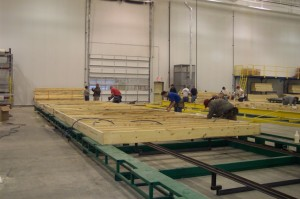 Building the Floors at the Pennwest/Manorwood Homes Factory