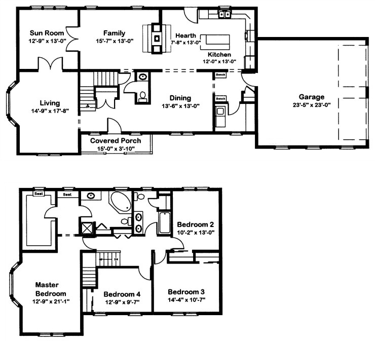Edison 2 modular home floor plan for Edison home show