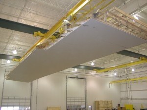 Installing a Ceiling to the Module on the Pennwest/Manorwood Assembly Line
