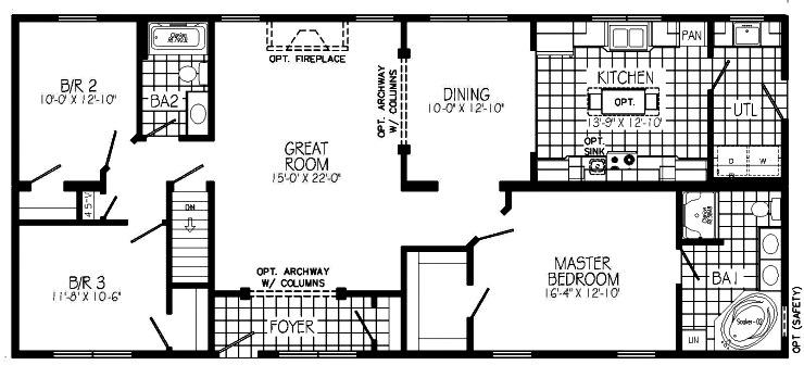 Hearthstone modular home floor plan for Hearthstone homes floor plans