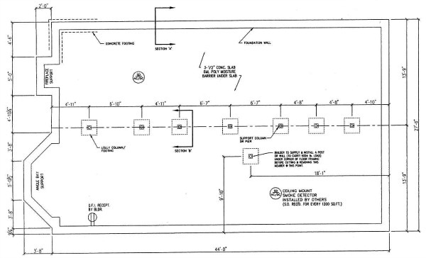 The final factory approved modular plans for the foundation.