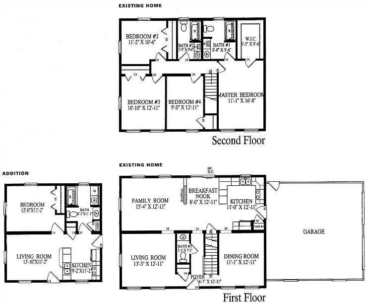 Modular second story addition floor plans gurus floor for Modular garage addition