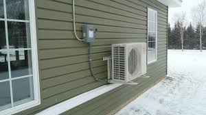 Ductless mini-split heating and cooling systems place the compressor and condenser outside the home.