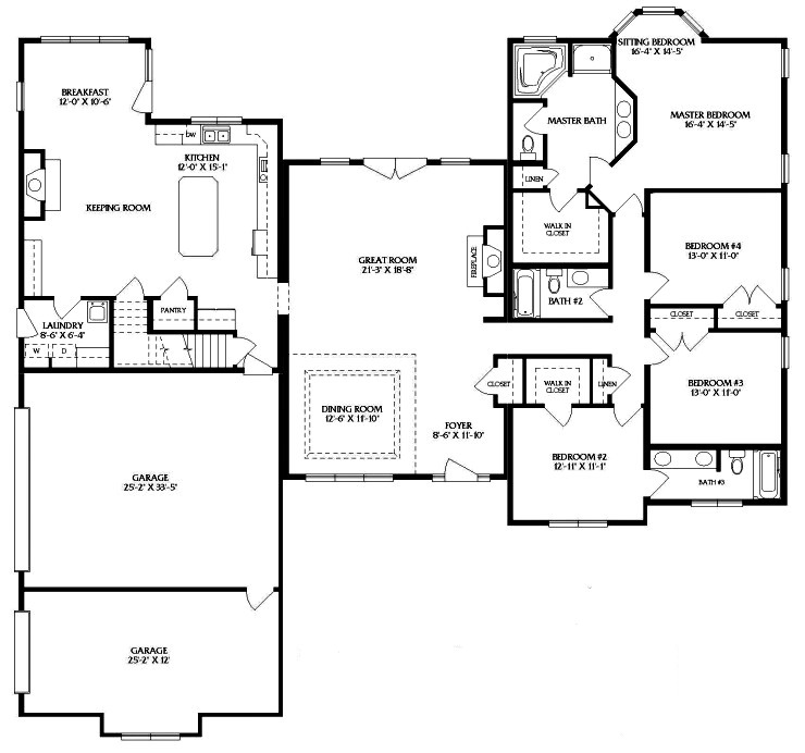 T ranch modular home floor plans home design and style for T ranch house plans