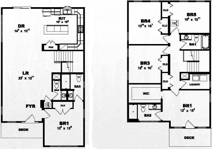 Beach Break Modular Home Floor Plan on