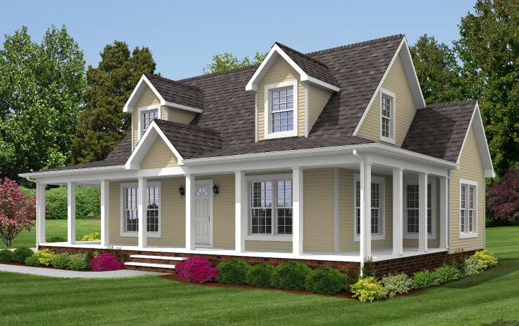 Brookside cape modular home floor plan for Cape modular home plans