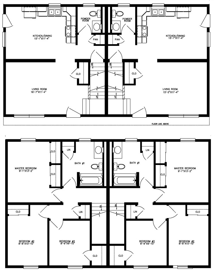 Fairfax modular home floor plan for Modular duplex prices