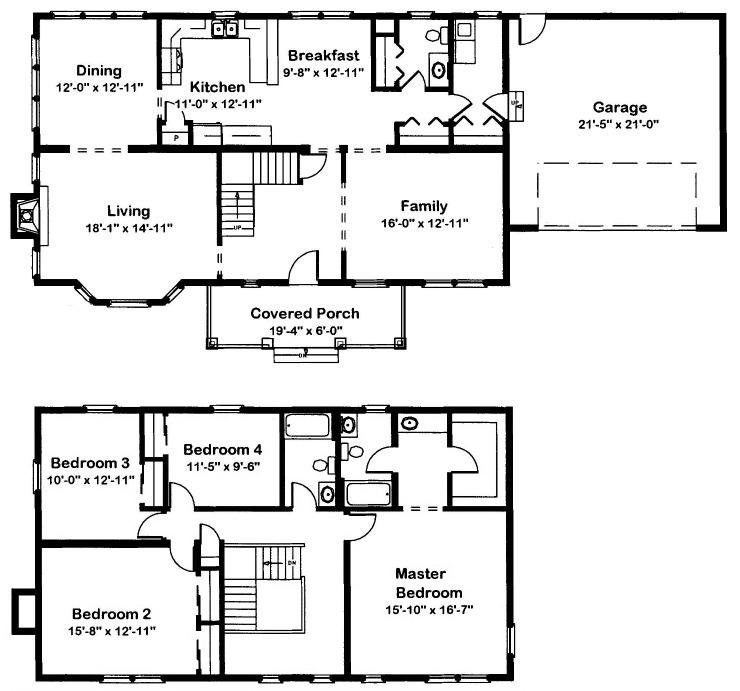 Hamilton 1 2 Story Modular Home Floor Plan