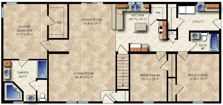 Heartland Modular Home Floor Plan