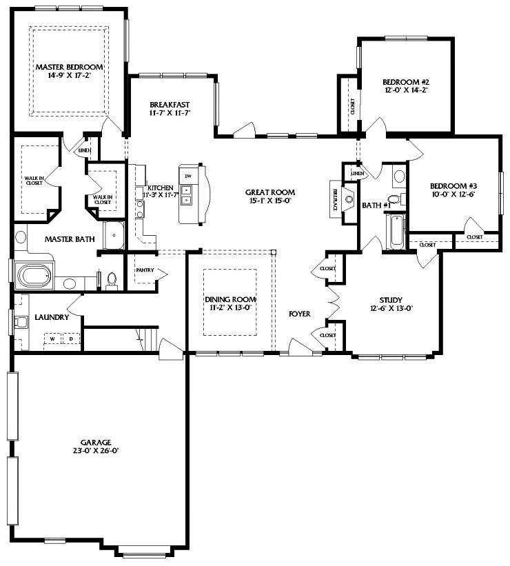 Jamison 1 story modular home floor plan for Modular house plan