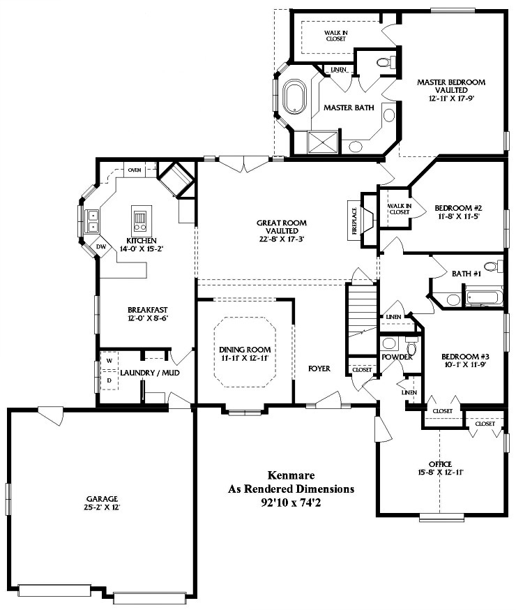 Stupendous Kenmare 1 Story Modular Home Floor Plan Download Free Architecture Designs Scobabritishbridgeorg