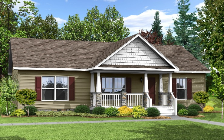 Liberty modular home floor plan for One level modular homes