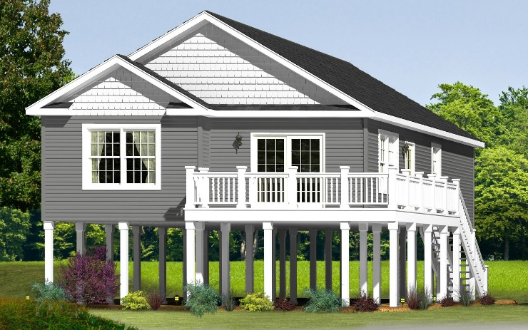 Ocean View 1 Story Modular Home Floor Plan
