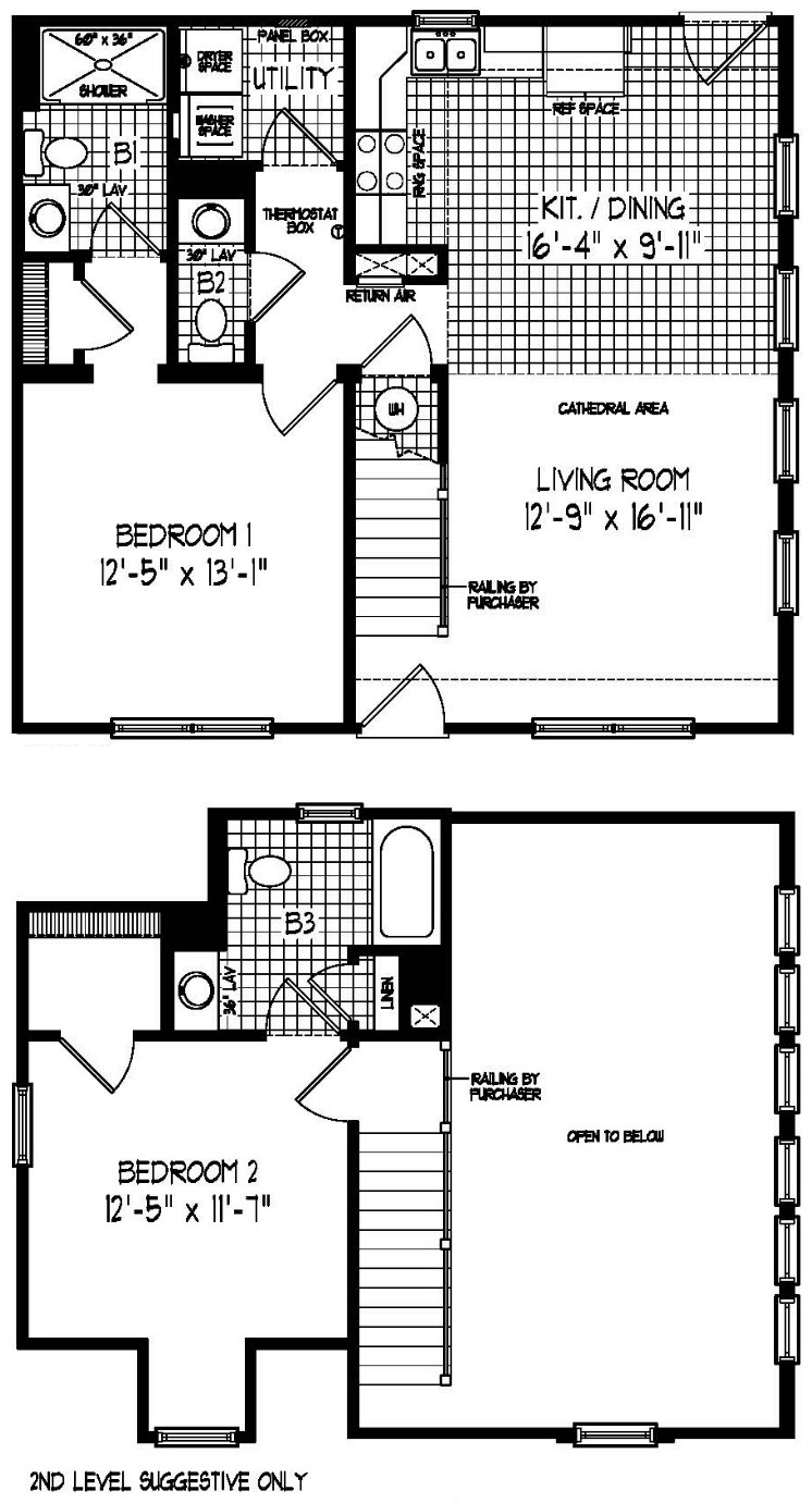 Riverside Modular Home Floor Plan