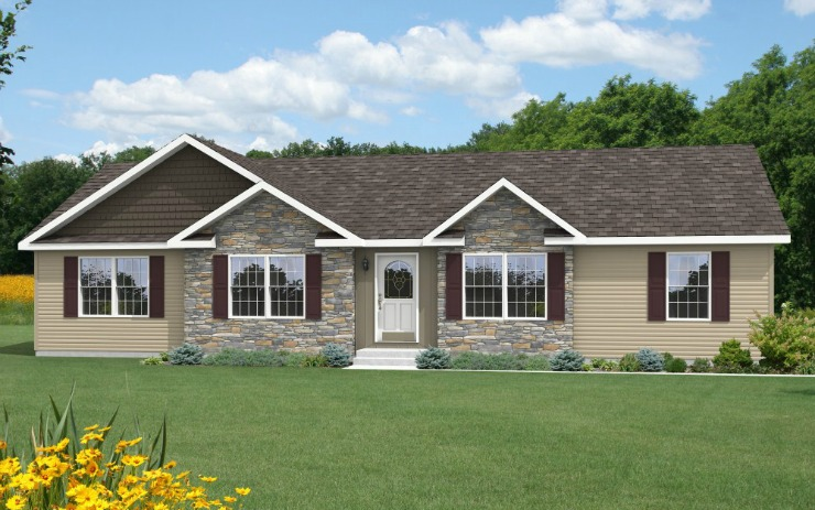 Sullivan 1 story modular home floor plan for One story modular homes